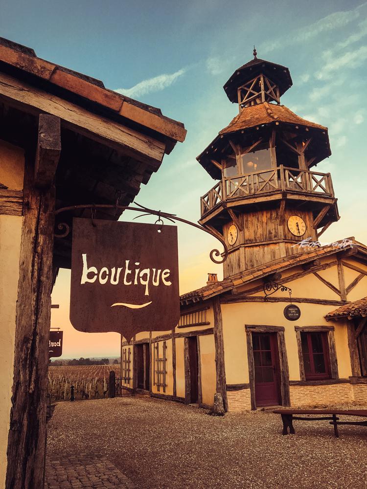Castelo nas vinhas de Bordéus