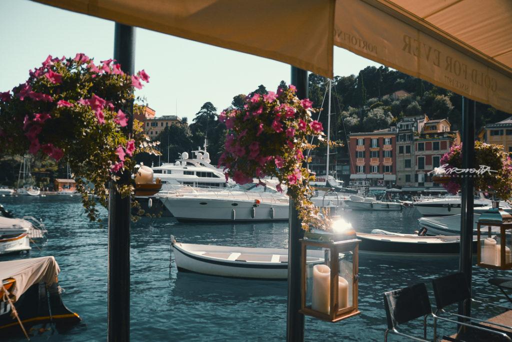 Veleiros em Portofino