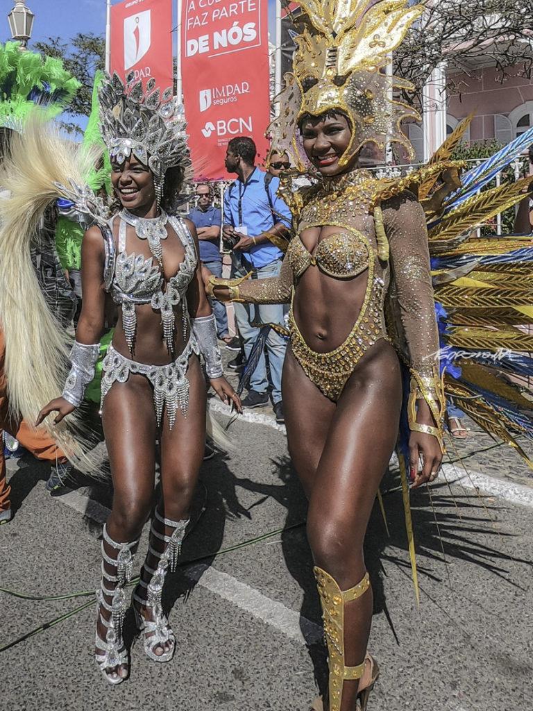 Rainhas da bateria no Carnaval de S. Vicente