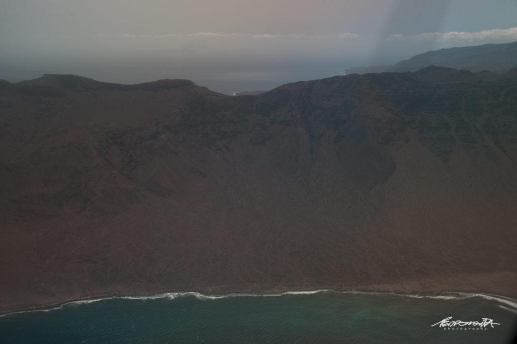 Vista aérea ilha de cabo verde
