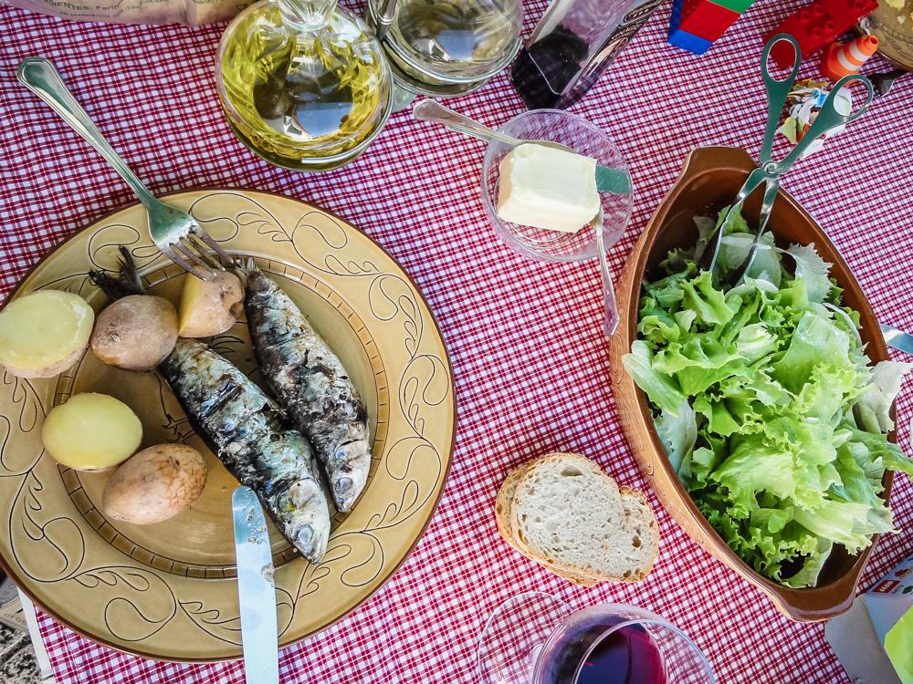 prato de sardinha assada